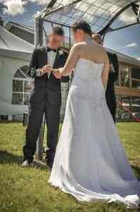 A-line Strapless Wedding Dress