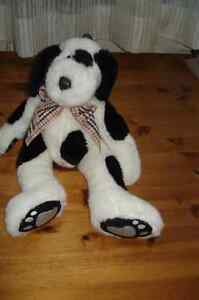 FIRST & MAIN PLUSH DALMATION  DOG WITH BURBERRY RIBB
