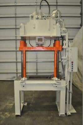 30 Ton B T 4 Post Hydraulic Press 18 Stroke 26 Daylight 47-14 X 28 Bed