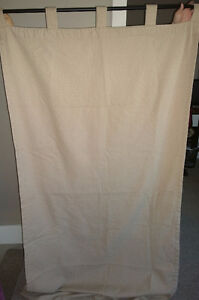 2x Cream Curtain Panels