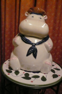 Hippo Cookie Jar