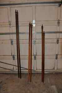 Wood Curtain Rods (3 sets)
