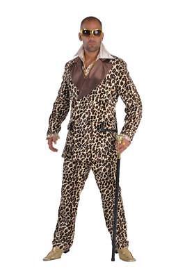 Disco 80er Jahre Anzug Kostüm Gangster Ganove Disco Party Pop Star Leopard Mafia (80er Jahre Pop Kostüme)