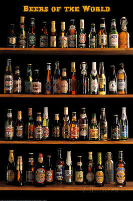 Beers of The World Poster Print, 24x36