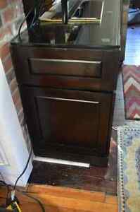 60 in TV Cabinet with Glass Top Kitchener / Waterloo Kitchener Area image 3