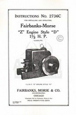 Fairbanks Morse Z D 1 12 Hp Hit Miss Engine Manual