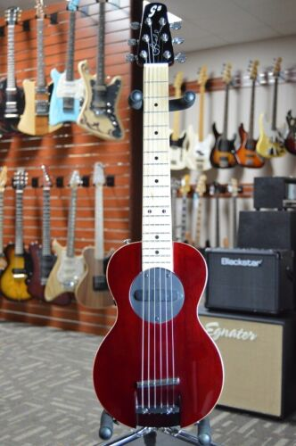 G-Sharp OF-1 Electric Travel Guitar (Wine Red, g# tuning, comes w/ gigbag)