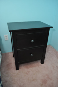 Pair of Ikea Hemnes Black / Brown Night Stand (2)
