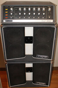 Vintage PA Gear - Shure Vocal Master & Traynor BW3 Speakers