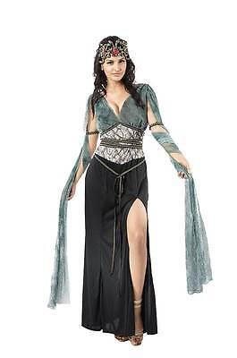 Medusa Kostüm mit Schlange Kopfbedeckung, Halloween/Griechische Göttin, Damen