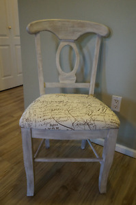 Shabby Chic Distressed Antique White Solid Wood Dining Chair
