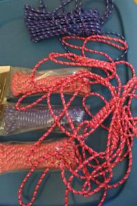NEUF! 5 cordes de polypropylène tressée 30 pieds de long/chaque