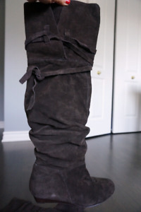 Nine west brown over the knee boots, size 5.5, new