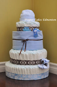 Diaper Cakes, baby shower gift, great centerpiece for a shower