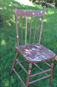 3 Wooden Painted Chairs- great for Chalk painting! Cambridge Kitchener Area image 5