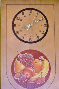 Hand Painted Kitchen Clock
