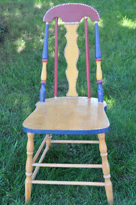 3 Wooden Painted Chairs- great for Chalk painting! Cambridge Kitchener Area image 1