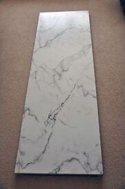 Worktop (Prima) Calcutta Marble Finish, 1850mm length, 600mm width