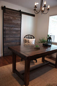 Reclaimed Wood Desk Table with drawers. By LIKEN Woodworks