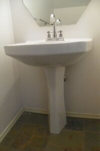 Pedestal sink (white) complete with faucet - only $85