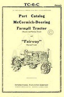Farmall Mccormick Regular Narrow Parts Catalog Manual