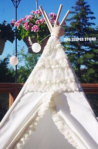 Teepee tipi princess wigwam ivory. Tender stylish. Decor