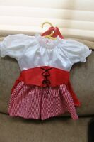 18 mos Red Riding Hood costume