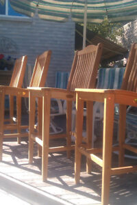 Alexander Rose Teak Bar stools