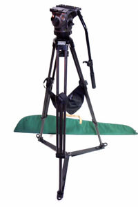 SACHTLER TRIPOD 75mm CARTONI HEAD MID-LEVEL & FLOOR SPREADER 3 L