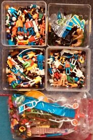 HUNDREDS OF PLAYMOBIL FIGURES AND ACCCESSORIES