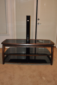 Wood and Glass , two shelf TV Stand