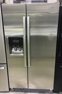 """Kenmore side by side with water & ice 36""""W x 69""""H x 27""""D $899"""