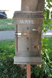 Rustic Rural Mailbox - Very Unique