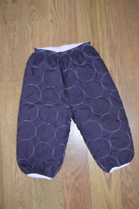 Purple Patagonia Reversible Pants - 12/18M