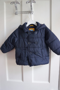 Boys Baby Gap Navy Jacket with Hood size 18-24 months
