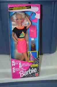 Complete Set of 1993 Glitter Hair Barbie's (3 dolls included) London Ontario image 1