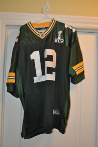 chandail football Aaron Rodgers football jersey