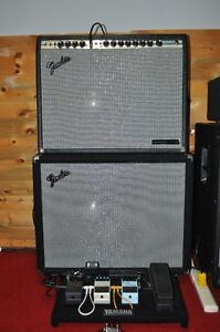 70's Fender Super Six Tube Amplifier with extended Cabinet