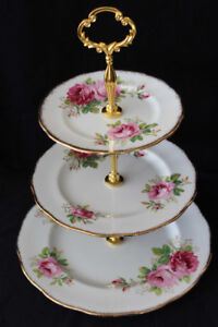 3 TIERED CAKE STANDS FOR SALE