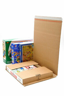 100 x NEW X-LARGE C5-R BOOK WRAP MAILER POSTAL BOXES 415x355x100mm / TOP QUALITY