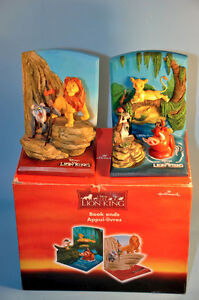 Disney LION KING Hallmark Figural Bookends with box