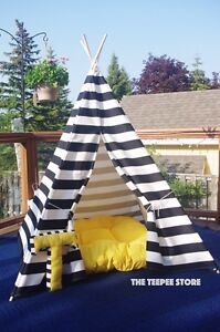 Teepee tipi wigwam play tent nautical style black and white Downtown-West End Greater Vancouver Area image 6