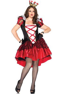 Red Alice In Wonderland Costume (Alice in Wonderland Royal Red Queen Plus Size Halloween)