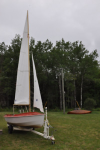 CL 16 Sail boat and trailer