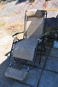 Chaise longue de parterre