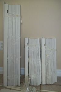 3 White Faux Wood Blinds
