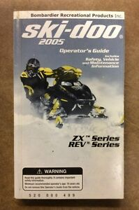 2005 SKI-DOO ZX AND REV OWNERS MANUAL