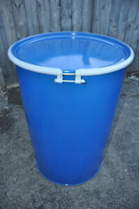 55 Gallon Steel Drums/Barrels with Cover and Locking Seal
