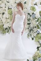 Fit and Flare, Lace wedding dress size 12 never worn Jai Bridal