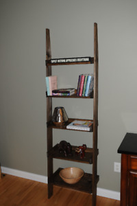 Rustic Knotty Pine 5 Shelf Ladder Bookcase